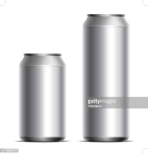 metallic cans - can stock illustrations