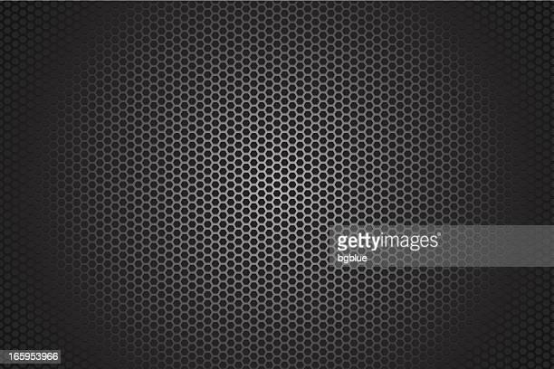 Metallic hexagon texture background