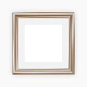Metallic picture frame with mount