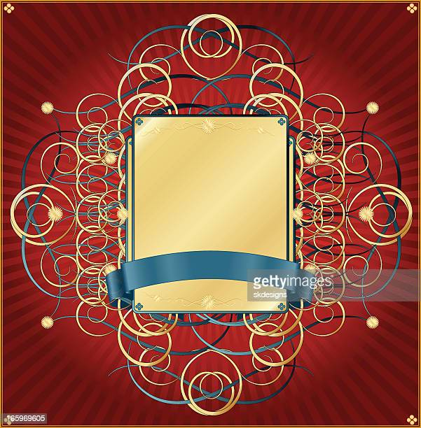 Metallic Red Gold And Turquoise Background Design