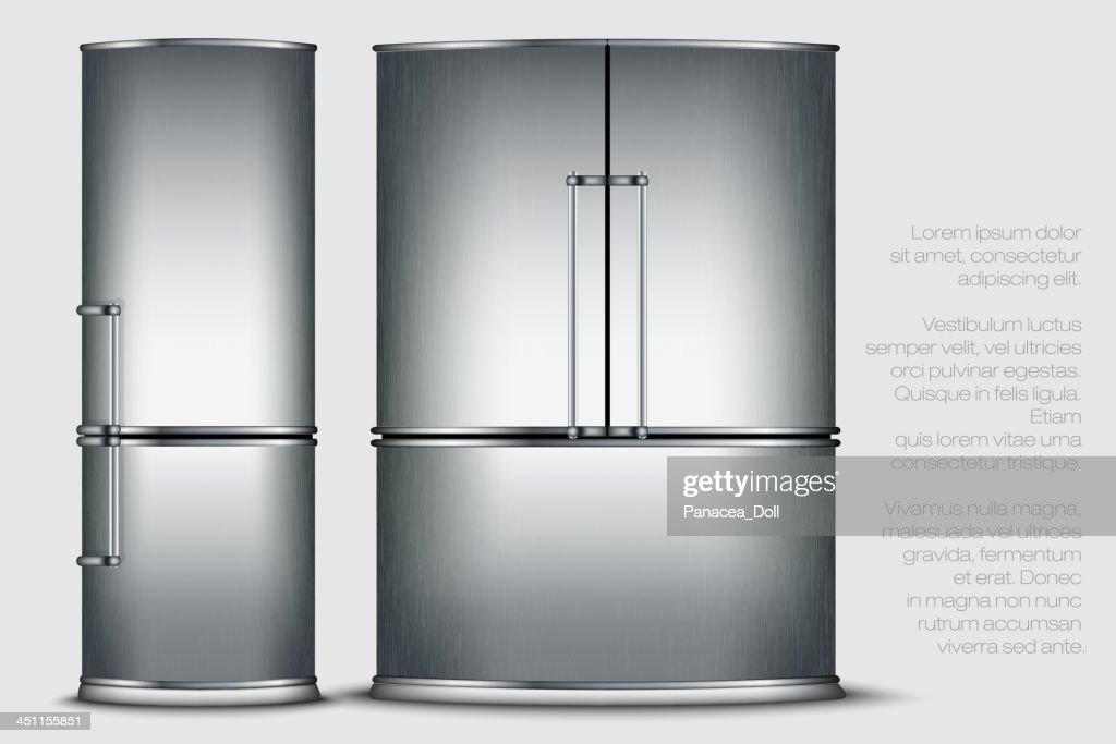 metallic refrigerator