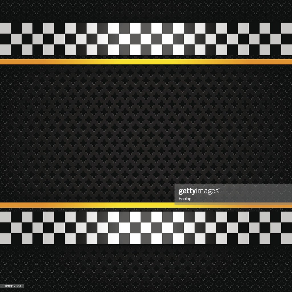 Metallic sheet with checkerboard pattern on the edges