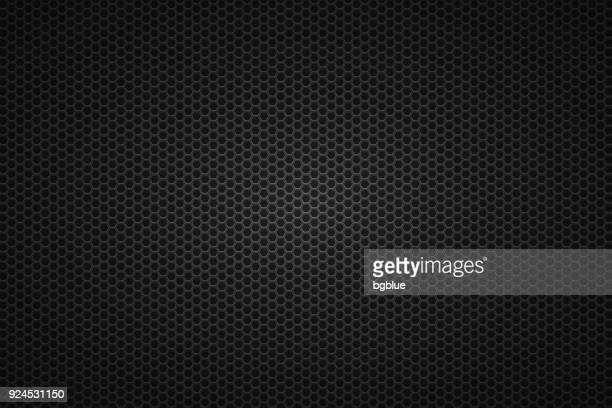 metallic texture - metal grid background - black colour stock illustrations