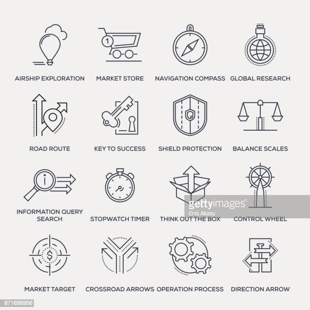 Metaphors Icon Set - Line Series