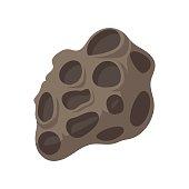 Meteorite cartoon icon