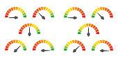 Meter signs infographic gauge element