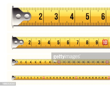 Metric Tape Measure Measurements High Res Vector Graphic
