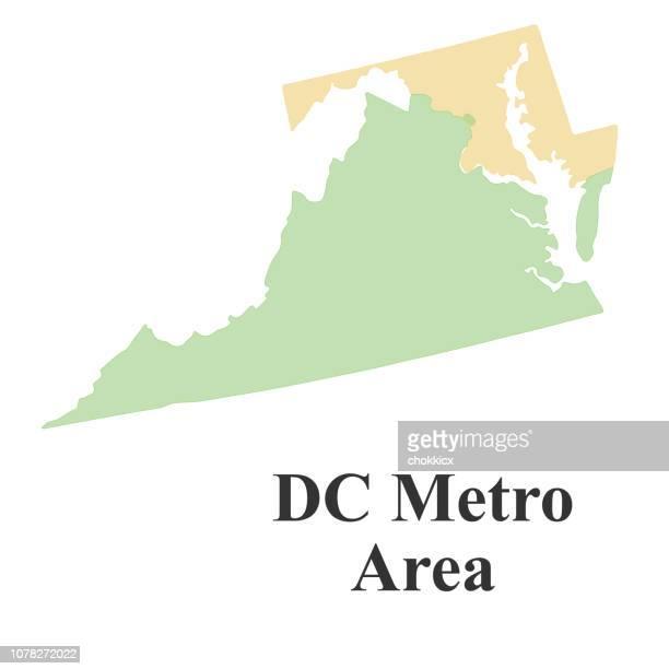 dc metro area map - maryland stock illustrations, clip art, cartoons, & icons