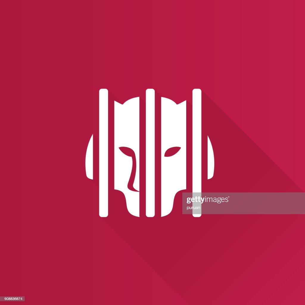 Metro Icon - Caged animal