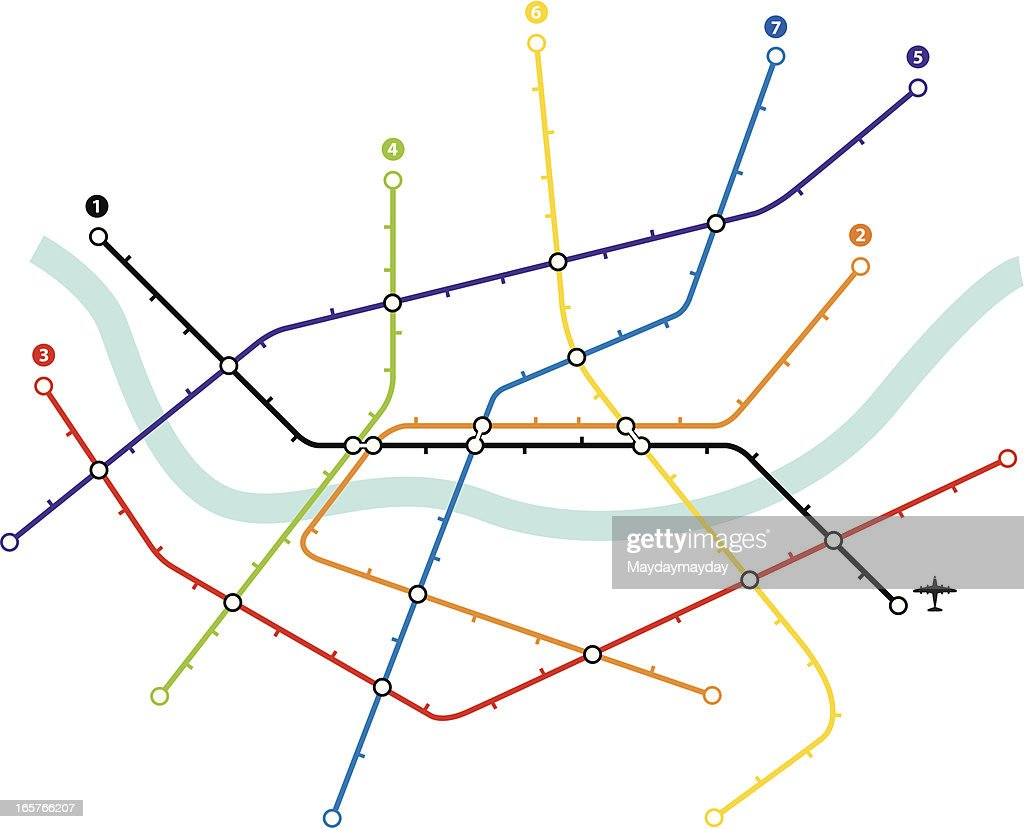 Metro map : stock illustration
