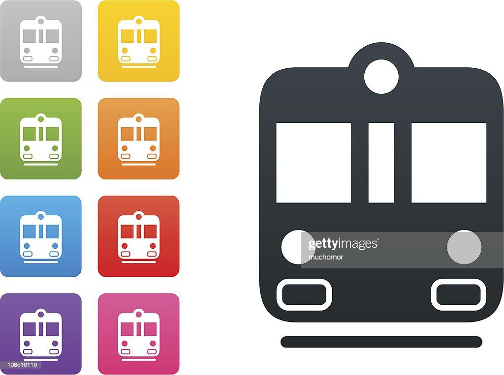 metro on coloured button - design elements