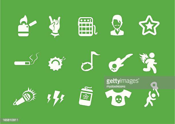 metro rock music icons - security pass stock illustrations, clip art, cartoons, & icons
