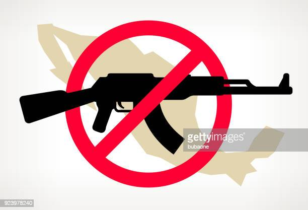 Mexica No arma violencia Vector Poster