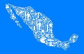 Mexica Winter Sport Fun  Vector Graphic