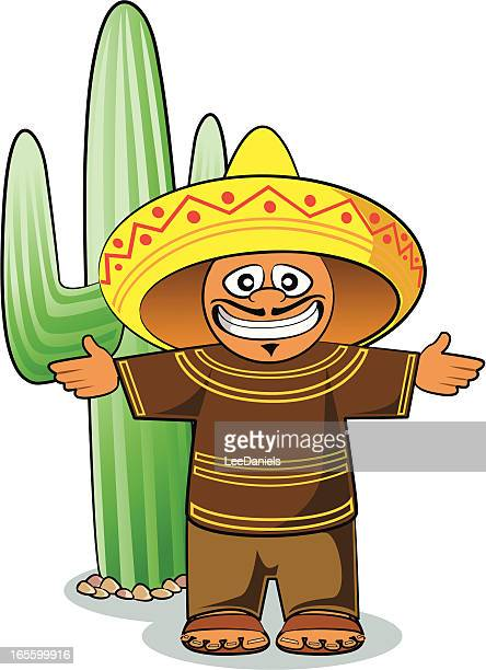mexican and cactus cartoon - sandal stock illustrations, clip art, cartoons, & icons