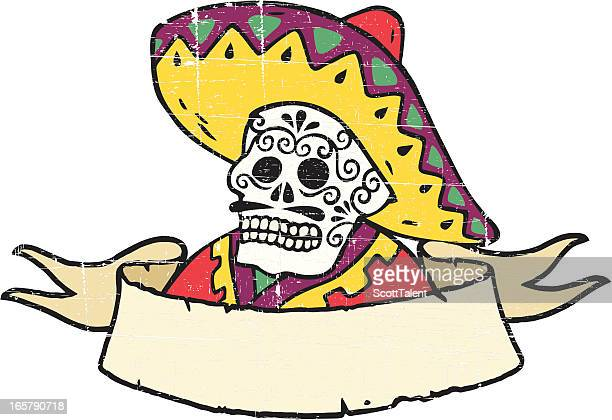 mexican banner - sombrero stock illustrations