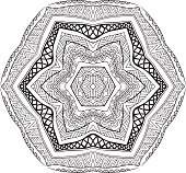 Mexican Black And White Ornament Mandala Style