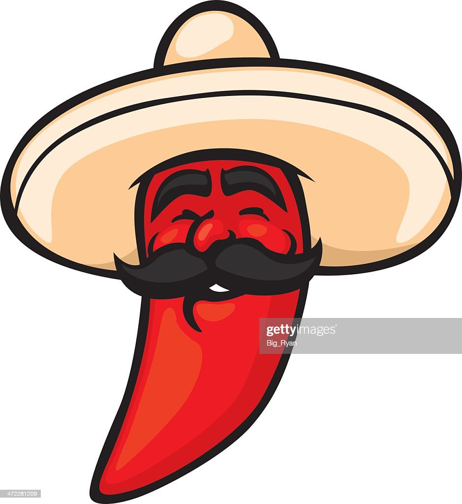 mexican chili pepper : stock illustration