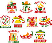 Mexican cuisine fast food restaurant sign design