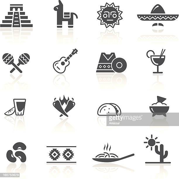 mexican culture & food - bean stock illustrations