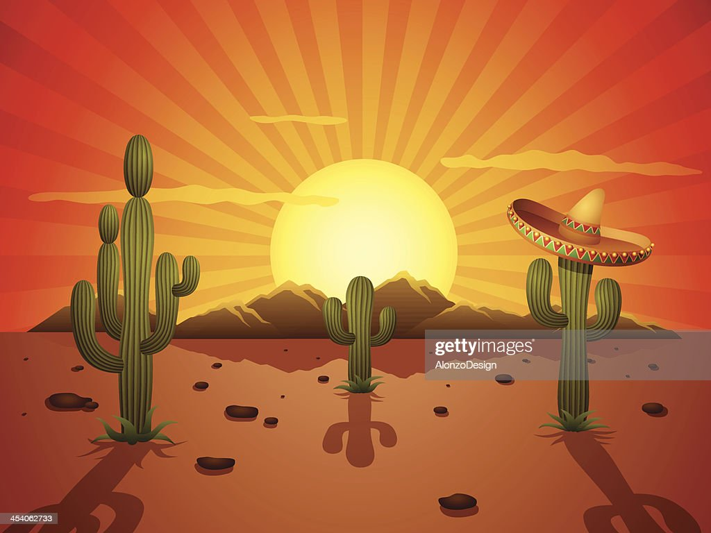 Mexikanische Desert : Stock-Illustration