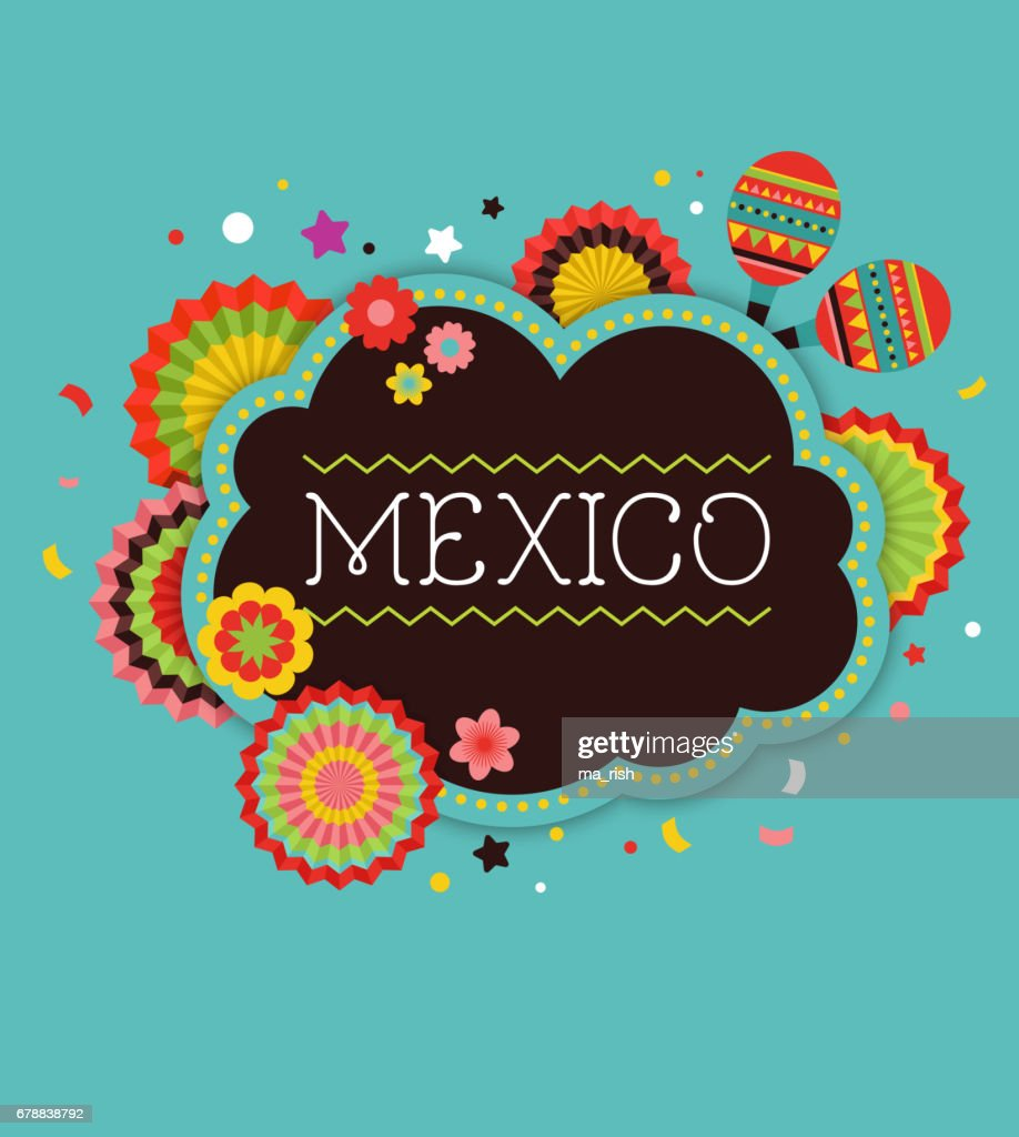 Mexican Fiesta background banner