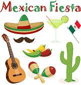 Mexican Fiesta Elements