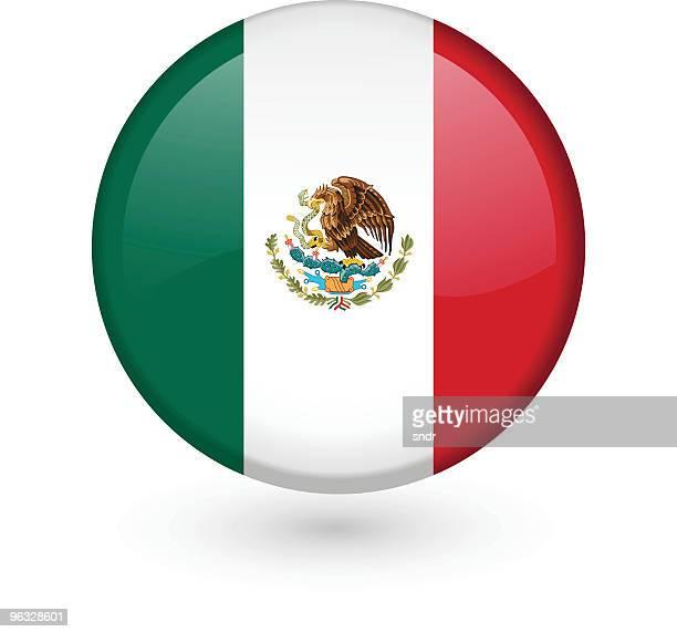Bandera mexicana vector botón