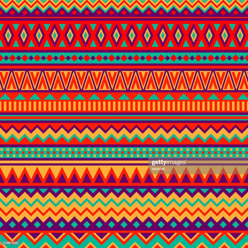 Mexican Folk Art Patterns : stock illustration