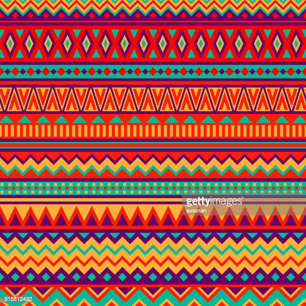 mexican folk art patterns - indigenous culture stock illustrations