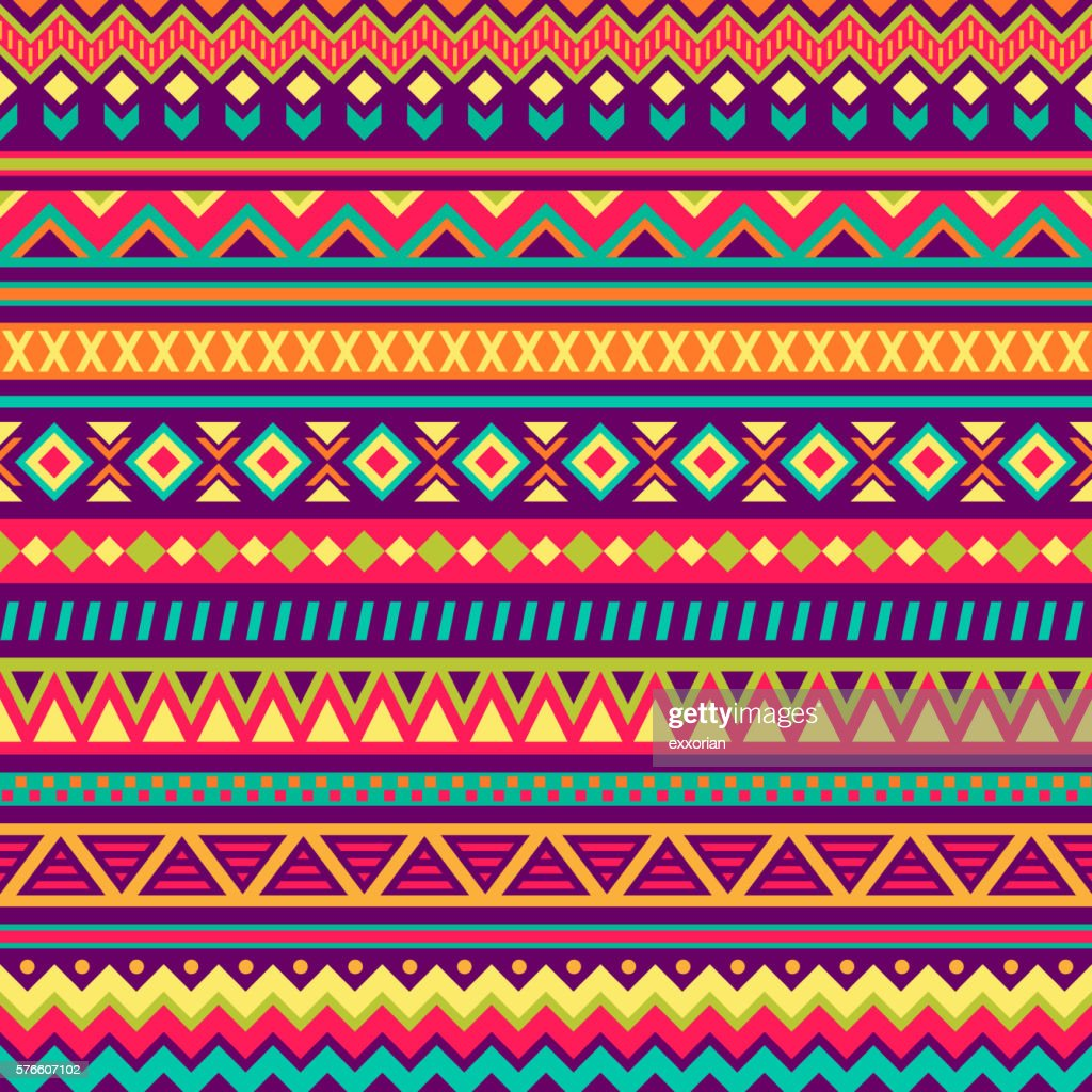 Mexican Folk Art Patterns Vector