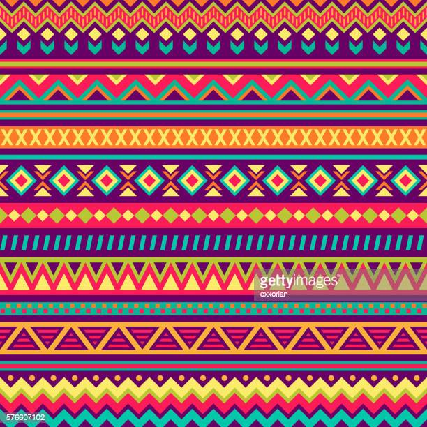 stockillustraties, clipart, cartoons en iconen met mexican folk art patterns - latijns amerikaanse en hispanic etniciteiten