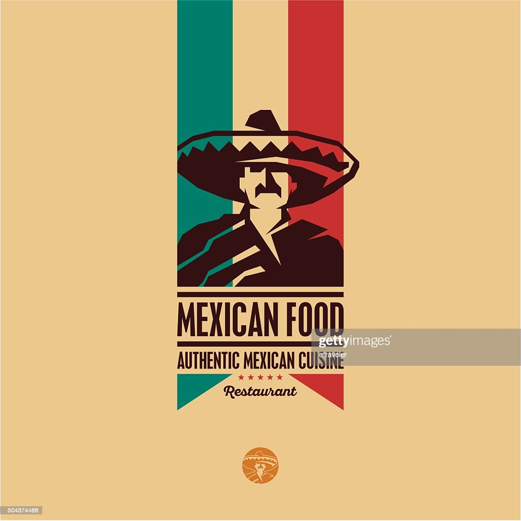 Mexican food restaurant logo