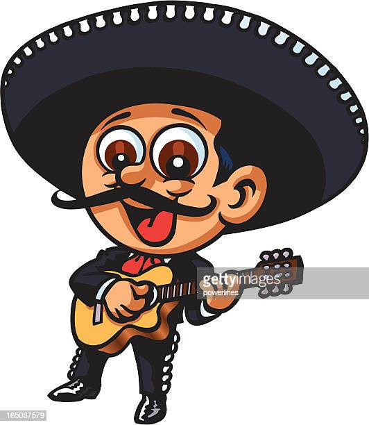 mexican guitar - mariachi stock illustrations