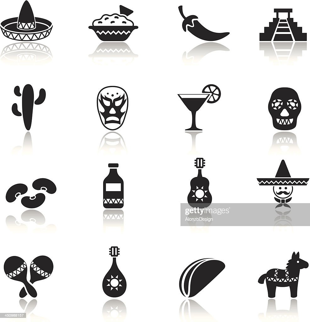 Mexican Icon Set : Stockillustraties
