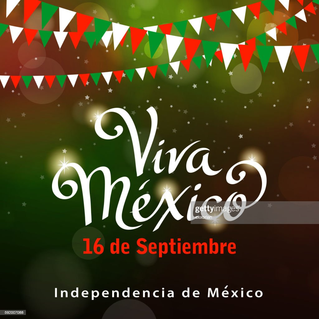 Mexican Independence Day Celebration : stock illustration
