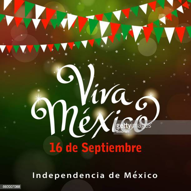 mexican independence day celebration - independence stock illustrations