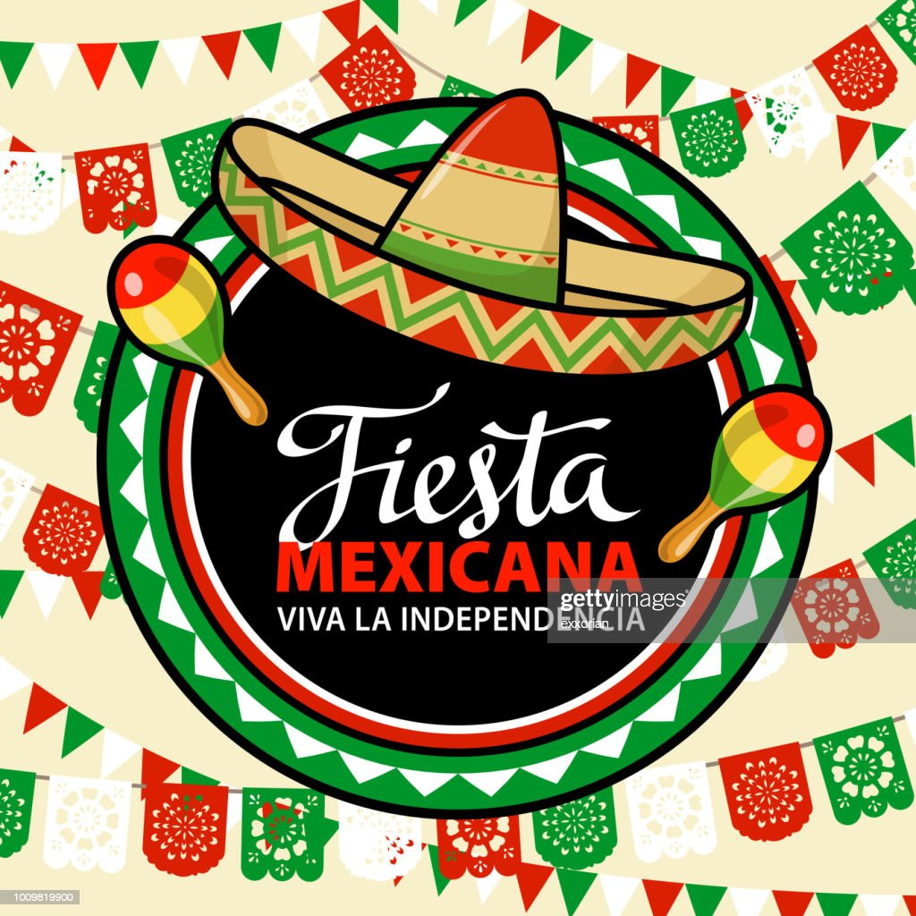 Mexican Independence Day Fiesta : Ilustração de stock