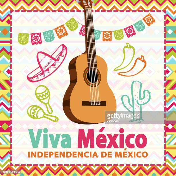 mexican independence day party - blanket texture stock illustrations, clip art, cartoons, & icons