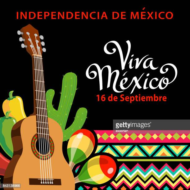 mexican independence day party - mariachi stock illustrations