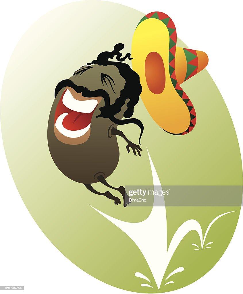 Mexican salto feijão : Ilustração