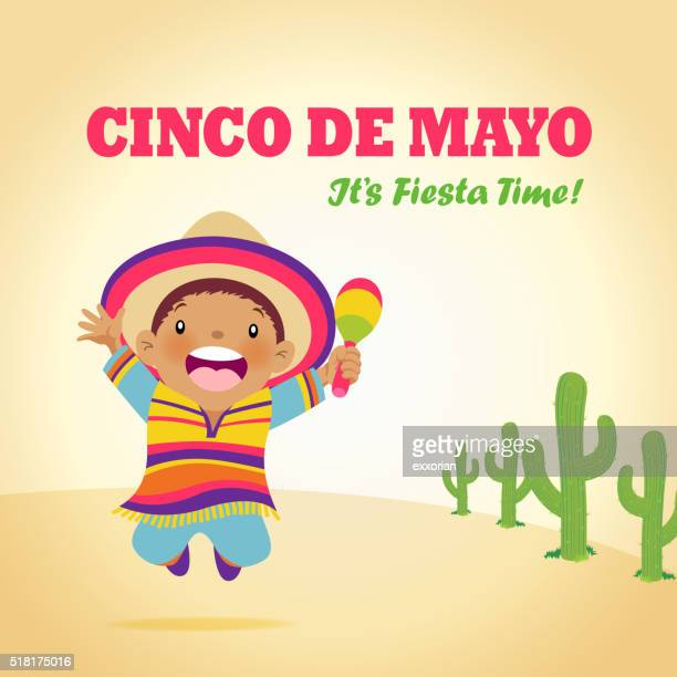 mexican kids jumping - salsa music stock illustrations, clip art, cartoons, & icons