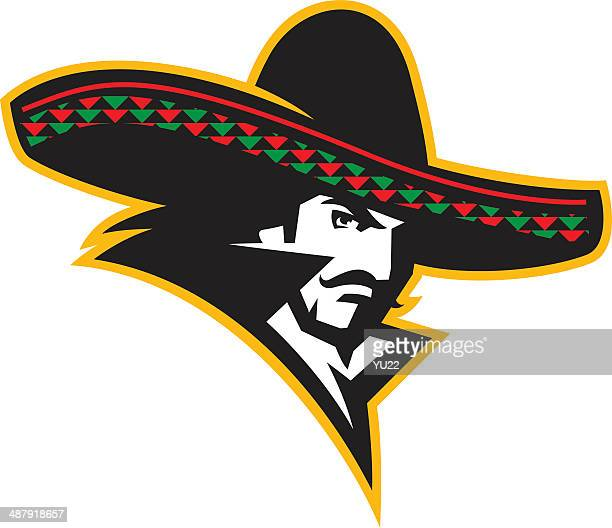mexican man - sombrero stock illustrations