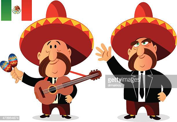 mexican mariachi band - mariachi stock illustrations
