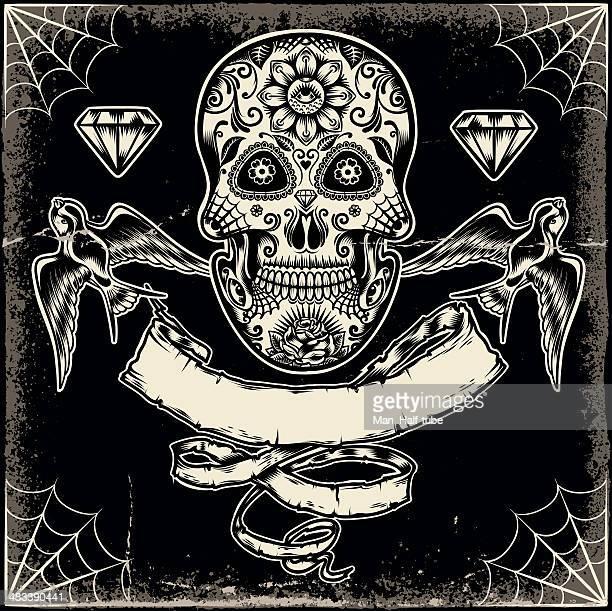 Mexican ornate skull