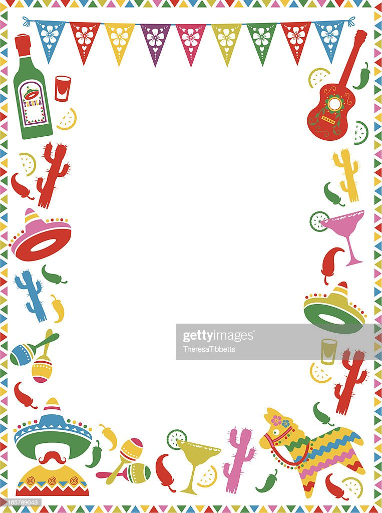 Mexican Party Frame Vector Art | Getty Images