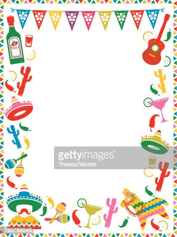 mexican party frame vector art getty images - Mexican Frame