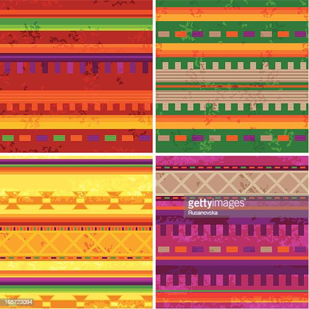 mexican patterns - latin american culture stock illustrations, clip art, cartoons, & icons