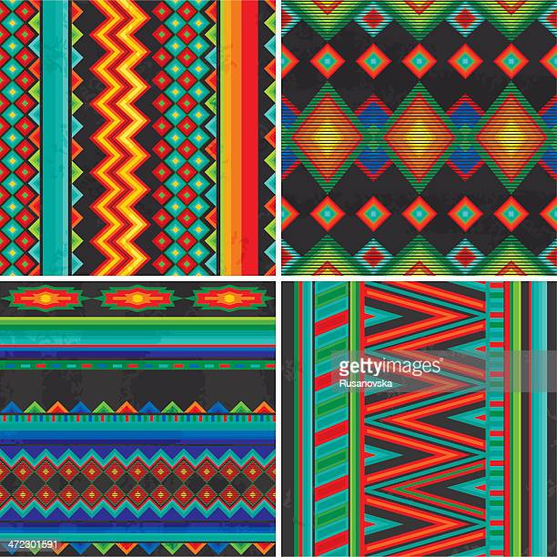 mexican patterns - new mexico stock illustrations