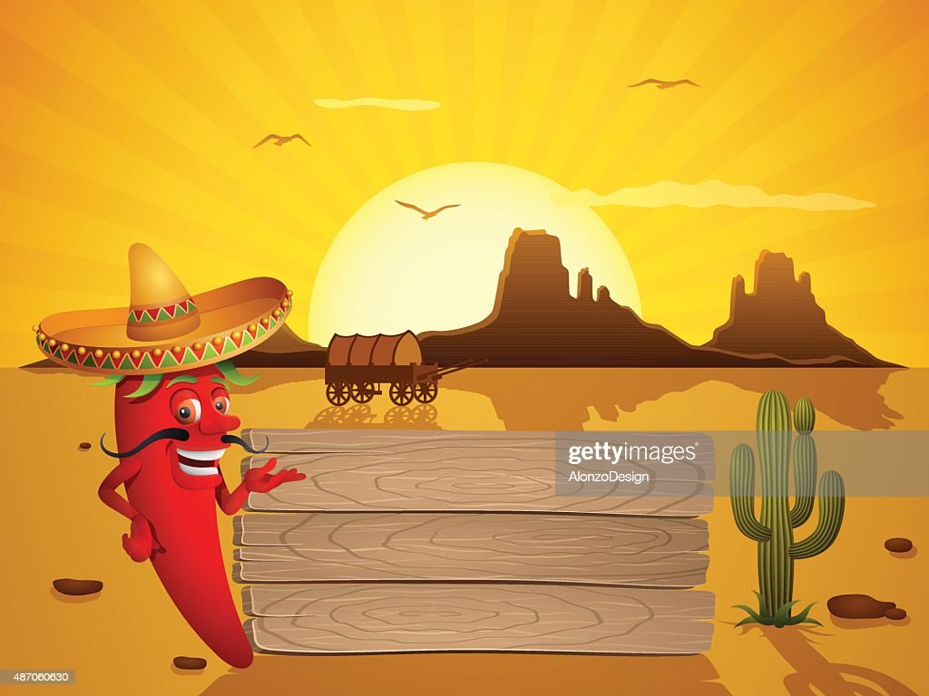 Mexican Red Chili Pepper : stock illustration